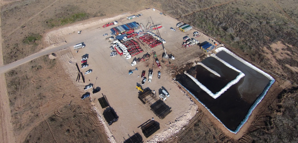 drone, aerial, oil field, fracking